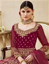 photo of Designer Velvet Fabric Embroidered Floor Length Anarkali Suit