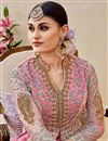 photo of Pink Embellished Fancy Long Anarkali Suit In Net