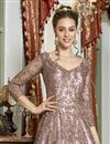 photo of Pink Color Net Fabric Function Wear Embroidered Gown Style Anarkali Dress