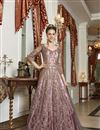 image of Pink Color Net Fabric Function Wear Embroidered Gown Style Anarkali Dress
