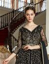 photo of Black Color Net Fabric Function Wear Embroidered Gown Style Anarkali Dress