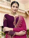 photo of Eid Special Fancy Sangeet Wear Purple Georgette Embroidered Palazzo Suit