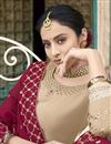 photo of Eid Special Sangeet Wear Georgette Fancy Embroidered Palazzo Dress In Beige
