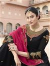 photo of Eid Special Sangeet Wear Georgette Fancy Embroidered Palazzo Dress In Black