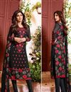 image of Party Wear Black Color Georgette Fabric Salwar Suit Featuring Shilpa Shetty