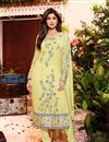image of Shilpa Shetty Party Wear Georgette Fabric Salwar Kameez In Yellow Color