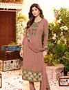 image of Shilpa Shetty Party Wear Georgette Fabric Salwar Kameez In Peach Color