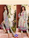 image of Shilpa Shetty Party Wear Georgette Fabric Salwar Kameez In Cream Color