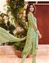 photo of Party Wear Mehendi Green Color Georgette Fabric Salwar Suit Featuring Shilpa Shetty