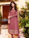 image of Peach Color Georgette Fabric Salwar Kameez Featuring Shilpa Shetty