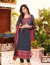 image of Shilpa Shetty Grey Color Designer Salwar Kameez In Georgette Fabric