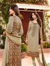 image of Beige Color Georgette Fabric Salwar Kameez Featuring Shilpa Shetty
