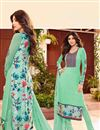 image of Shilpa Shetty Sea Green Color Salwar Kameez In Georgette Fabric