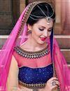 photo of Cream Wedding Bridal Net Lehenga Choli