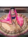 picture of Cream Wedding Bridal Net Lehenga Choli