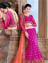 image of Magenta Georgette Bridal Wear Lehenga Choli