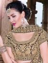 photo of Brown Silk Embroidered Bridal Lehenga Choli