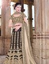 image of Brown Silk Wedding Bridal Lehenga Choli
