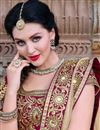 photo of Red Designer Bridal Wear Lehenga Choli