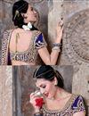 photo of Navy Blue Silk Bridal Wear Lehenga Choli