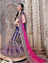 image of Navy Blue Silk Bridal Wear Lehenga Choli