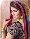 photo of Pink Net Embroidered Bridal Lehenga Choli