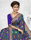 photo of Impressive Blue Color Heavy Weaving Party Wear Saree