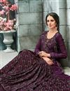 photo of Party Style Printed Readymade Gown In Burgundy Color Georgette