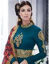 photo of Designer Gorgeous Blue Color Silk Party Wear Anarkali Salwar Kameez With Beautiful Work