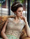 photo of Net Fabric Function Wear Designer Long Length Anarkali Suit In Cyan