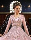 photo of Designer Pink Function Wear Floor Length Anarkali Suit In Net Fabric