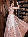 picture of Designer Pink Function Wear Floor Length Anarkali Suit In Net Fabric