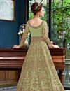 picture of Function Wear Net Fabric Designer Sea Green Long Length Anarkali Suit