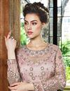 photo of Pink Designer Function Wear Floor Length Anarkali Suit In Net Fabric