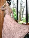 picture of Pink Designer Function Wear Floor Length Anarkali Suit In Net Fabric