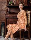 photo of Peach Designer Net Fabric Function Wear Sharara Top Lehenga