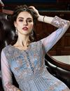 photo of Function Wear Designer Net Fabric Long Length Anarkali Suit In Blue