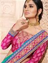 photo of Radiant Cyan Color Designer Party Wear Saree With Embroidery Design In Art Silk Fabric