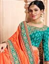 photo of Radiant Orange Color Designer Party Wear Saree With Embroidery Design In Art Silk Fabric