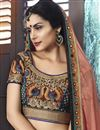 photo of Fancy Fabric Embroidered Designer Saree In Rust Color