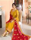 image of Ayesha Takia Embellished Fancy Salwar Kameez In Mustard Georgette