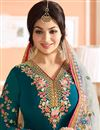 photo of Ayesha Takia Georgette Teal Designer Fancy Salwar Suit