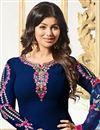 photo of Ayesha Takia Embellished Fancy Salwar Kameez In Navy Blue Georgette
