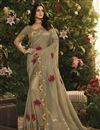 image of Fancy Fabric Function Wear Embroidered Dark Beige Saree