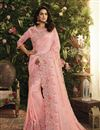 image of Function Wear Fancy Fabric Pink Embroidered Saree