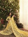 photo of Fancy Fabric Function Wear Yellow Embroidered Saree