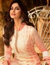 photo of Designer Georgette Festive Wear Embroidered Peach Palazzo Suit