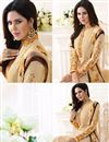 photo of Beige Color Straight Cut Party Wear Georgette Suit