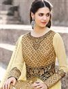 photo of Function Wear Georgette Beige Anarkali Salwar Suit