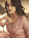 photo of Pink Embroidered Net Fabric Sangeet Wear Designer Anarkali Salwar Suit